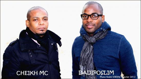 Cheikh MC et Dadiposlim (crédit photo : André Lekhal)